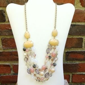 Bead and cz layered necklace